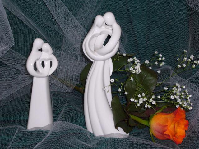 Porzellan-Brautpaar modern klein (#66 a) groß (#66 b)
