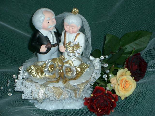 Porzellan-Brautpaar zur goldenen Hochzeit (#70)