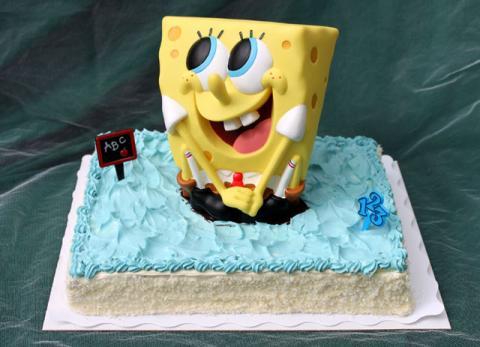 """Spardosen-Torte """"Spongebob"""" (#107)"""